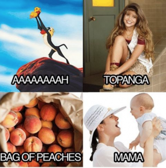 Aaaaaaah Topanga Bag of peaches mama